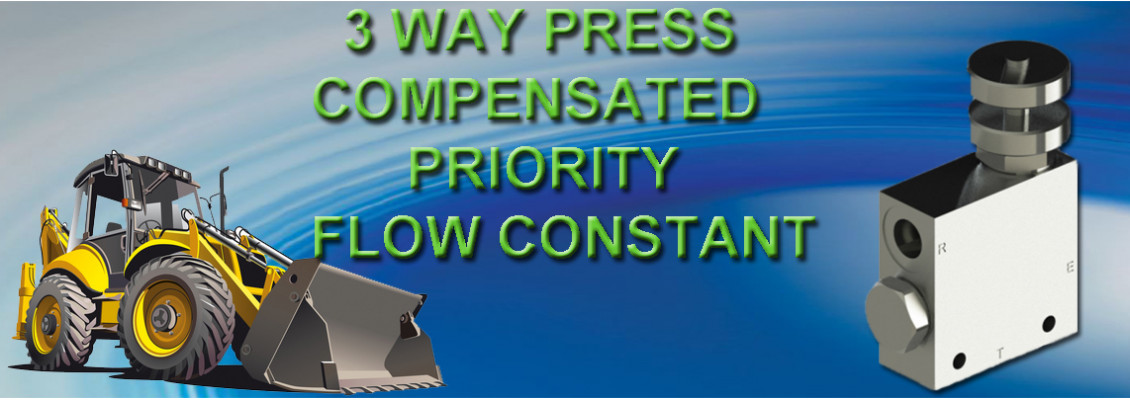 3 way press compensated priority flow constant