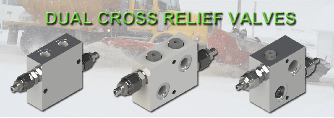 Dual cross relief valves